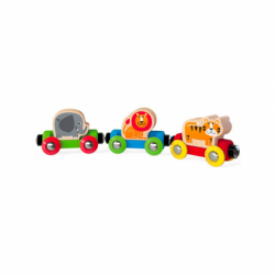 Tren animales jungla hape jungle journey 18m+