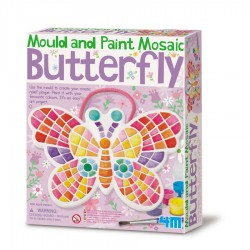 Mould & paint mosaic butterfly