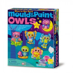 Mould and Paint Glow Owls ARTE CON PINTURA 4M