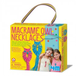 Girl accessories / macrame owl necklaces